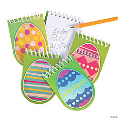 Easter Egg-Shaped Spiral Notepads