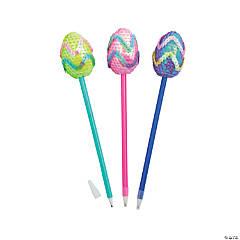 Easter Fluffy Sequin Egg Pens