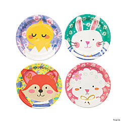 Easter Friends Paper Dinner Plates