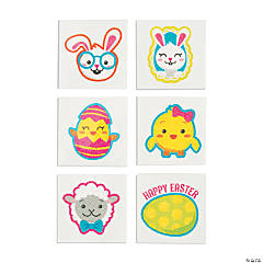 Easter Glitter Temporary Tattoos