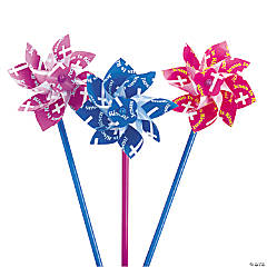 Easter Inspirational Pinwheels - 36 Pc.