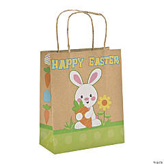 Easter Kraft Paper Gift Bags