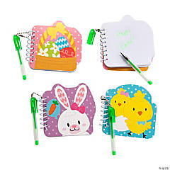 Easter Mini Spiral Notebooks with Pen