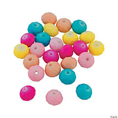Easter Pastel Rondelle Beads - 6mm x 9mm