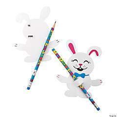 Easter Pencils with Bunny Card - 24 Pc.