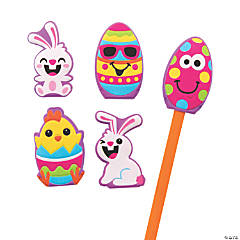 Easter Puffy Pencil Toppers
