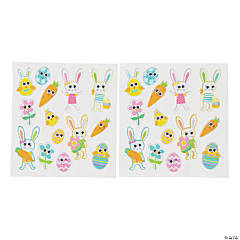 Easter Puffy Sticker Sheets with Googly Eyes