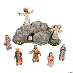 Easter Resurrection Scene Set with Story Card