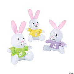 Easter Stuffed Bunnies with T-Shirt