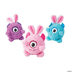 Easter Stuffed Monsters with Bunny Ears