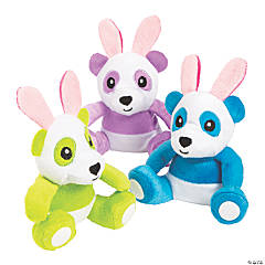 Easter Stuffed Panda Bunnies