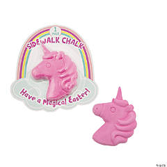 Easter Unicorn Sidewalk Chalk with Card