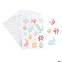 Easter Watercolor Character Stickers