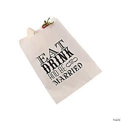 Eat, Drink & Be Married Cake Bags