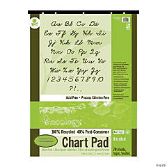 Ecology® Recycled Unruled Chart Pad