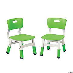 ECR4Kids Adjustable Resin Chair 2-Pack Grassy Green