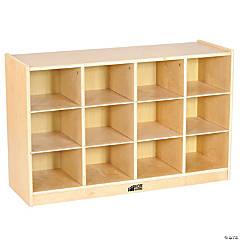 ECR4Kids Birch Storage 12 Cubbie Tray Cabinet