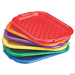 ECR4Kids Colorful Plastic Art Trays for Arts and Crafts Organizer - Assorted