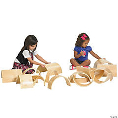 ECR4Kids Hardwood Curved Tunnel and Arch Blocks - 10pc Set