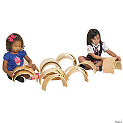 ECR4Kids Hardwood Curved Tunnel and Arch Blocks - 20pc Set