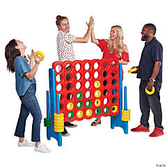 ECR4Kids Jumbo 4-to-Score Giant Game Set, 4 Feet Tall, Primary Colors
