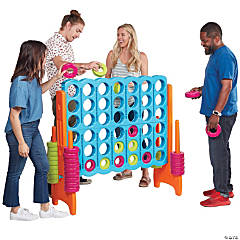 ECR4Kids Jumbo 4-to-Score Giant Game Set, Indoor or Outdoor, Easy to Transport, 4 Feet Tall, Vibrant