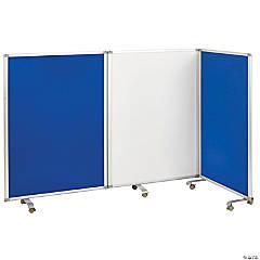 ECR4Kids Mobile Dry-Erase and Flannel Room Divider 3-Panel