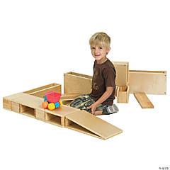 ECR4Kids Over-Sized Hollow Wooden Block Set - 18-Piece Set