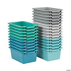 ECR4Kids Scoop Front Storage Bins 30-Piece - Contemporary