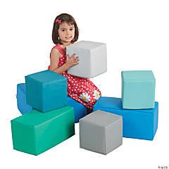 ECR4Kids Softzone Foam Big Building Blocks - Contemporary, 7pc Set