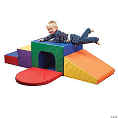 ECR4Kids SoftZone Single Tunnel Maze Foam Play Climber