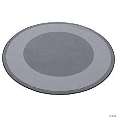 ECR4Kids Two-Tone Circle Area Rug - 6 Foot Round, Grey