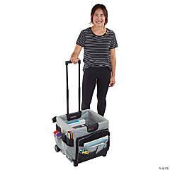 ECR4Kids Universal Rolling Cart and Organizer Bag - Black