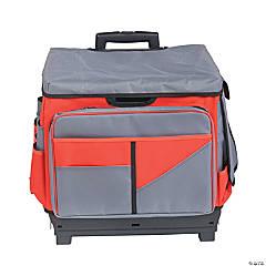 ECR4KIDS Universal Rolling Cart and Organizer Bag, Red