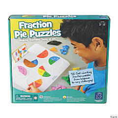 Educational Insights Fraction Pie Jigsaw Puzzles