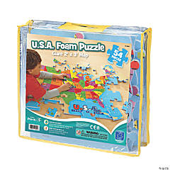 Educational Insights USA Foam Map Jigsaw Jigsaw Puzzle