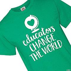 Educators Change the World Adult's T-Shirt - Small