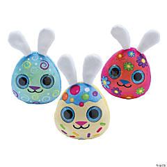 Egg-Shaped Easter Plush Bunnies