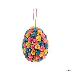 Egg-Shaped Easter Wreath