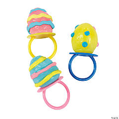 Egg-Shaped Ring Lollipops