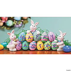 Eggs & Easter Bunnies Tabletop Decoration