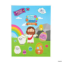 Eggs in My Basket, Jesus in My Heart Sticker Scenes