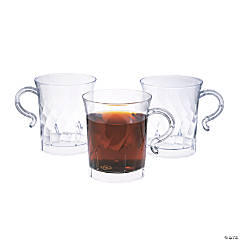 Elegance Clear Coffee Cups