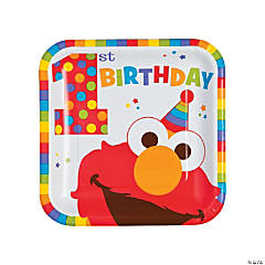 Elmo Turns One Dinner Plates