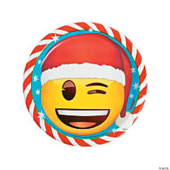 Emoji™ Christmas Paper Dinner Plates - 8 Ct.