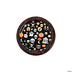 Emoji Halloween Dessert Plates