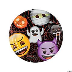 Emoji Halloween Round Paper Dinner Plates - 8 Ct.
