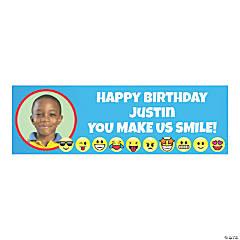 Emoji Party Photo Custom Banner - Small