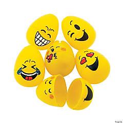 Emoji Plastic Easter Eggs - 48 Pc.