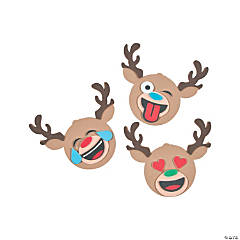 Emoji Reindeer Magnet Craft Kit